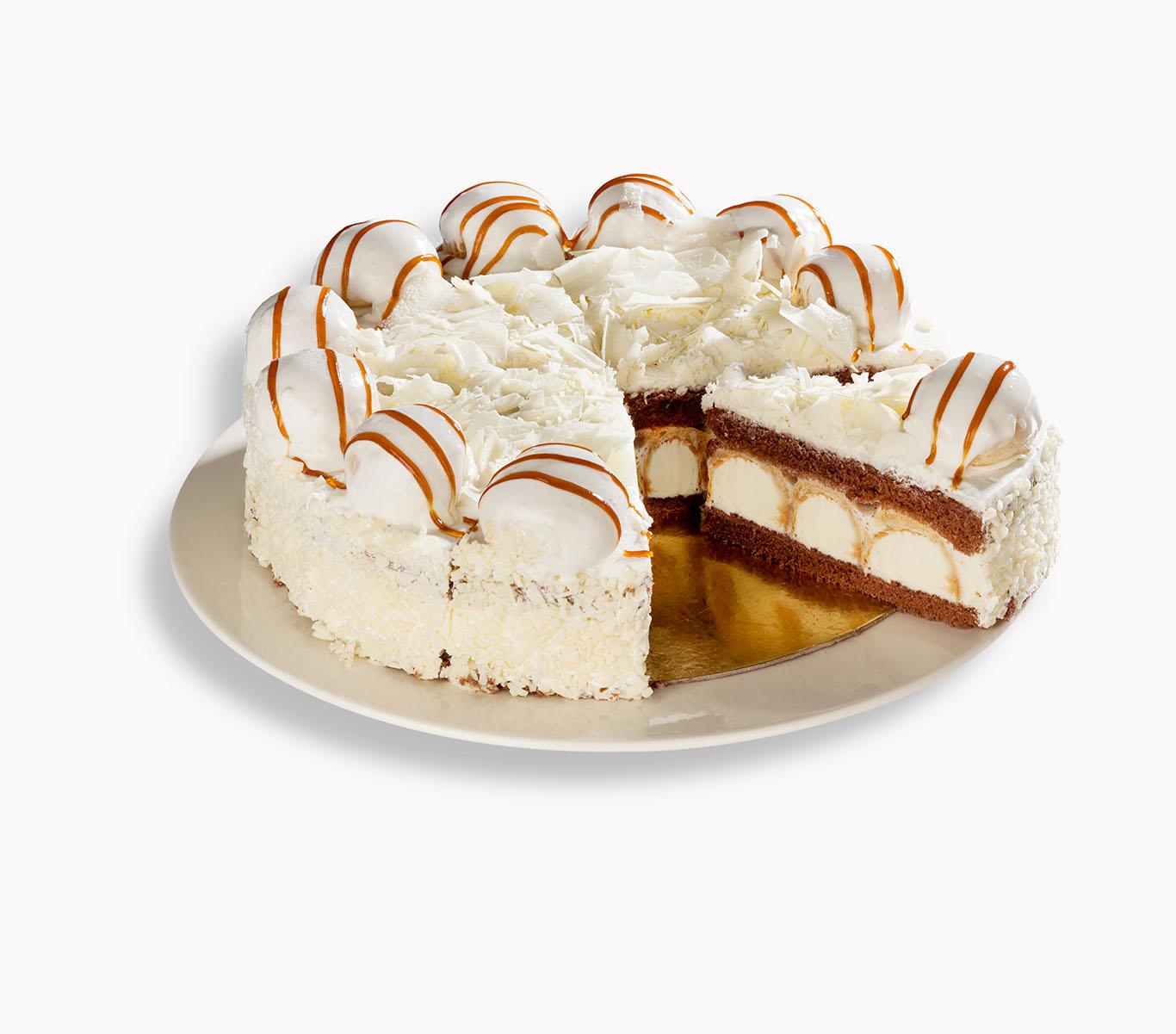Beyaz-Cikolatali-Profiterollu-Pasta